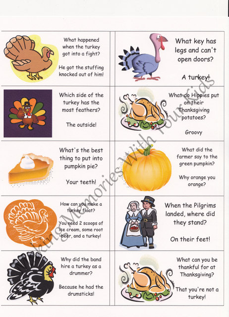 Thanksgiving lunch box notes jokes