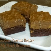 chocolate peanut butter oh my heck brownies
