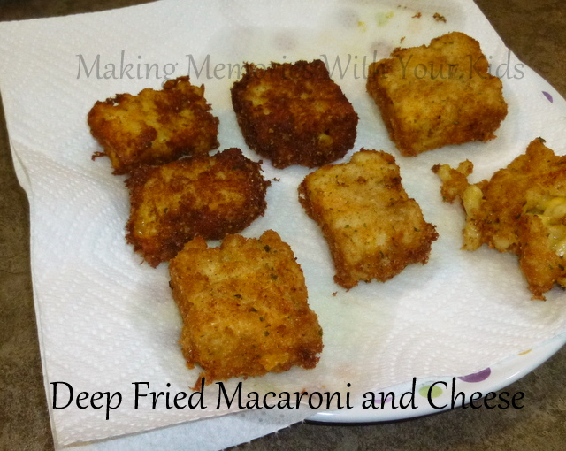 deep fried macaroni and cheese