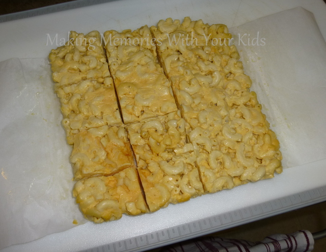 macaroni and cheese squares