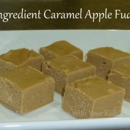 Two Ingredient Caramel Apple Fudge