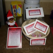 Candy Cane Garden deivered by our Elf on the Shelf