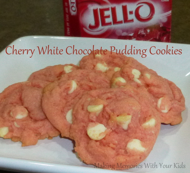 Cherry White Chocolate Pudding Cookies - Making Memories With Your ...