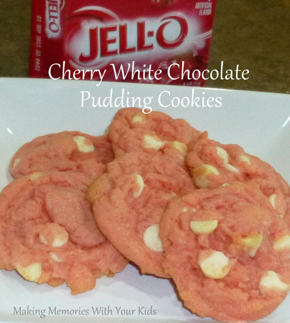Cherry White Chocolate Pudding Cookies - Making Memories ...