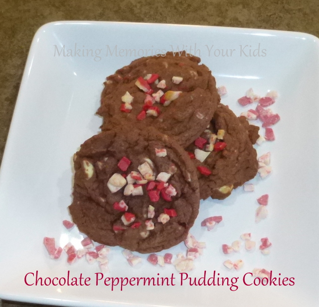 Chocolate Pepprmint Pudding Cookies