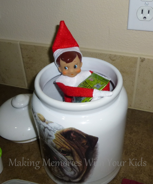 Elf on the Shelf Idea in the Cookie Ja