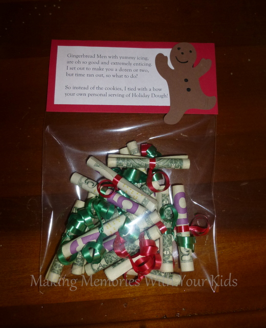 Holiday Dough Christmas Money Gift Idea