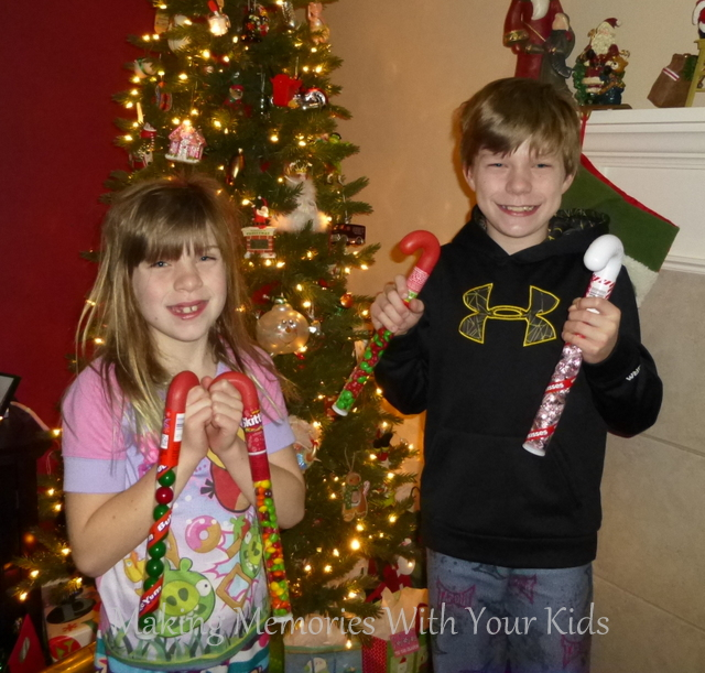 kids and their candy canes