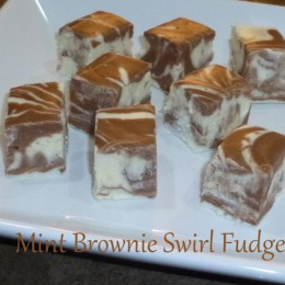Mint Brownie Swirl Fudge