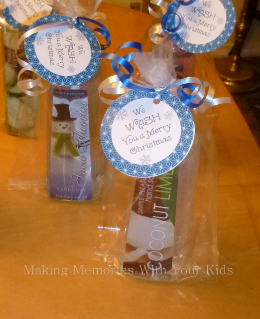 W Wash You a Merry Christmas Gift Idea with Printable