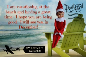 Elf on the Shelf Summer Postcard