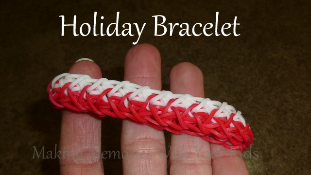 Holiday Rainbo Loom Bracelet
