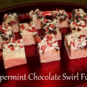 Peppermint Chocolate Swirl Fudge