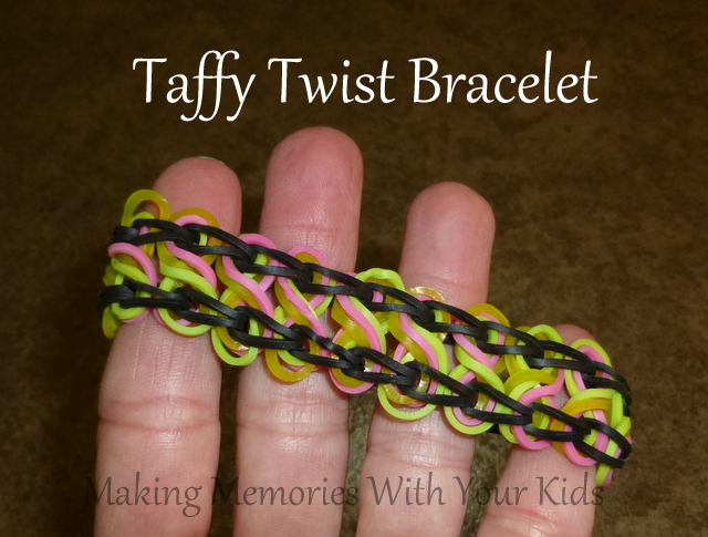 Taffy Twist Rainbow Loom Bracelet
