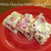 White Chocolate M&M Cookie Bars