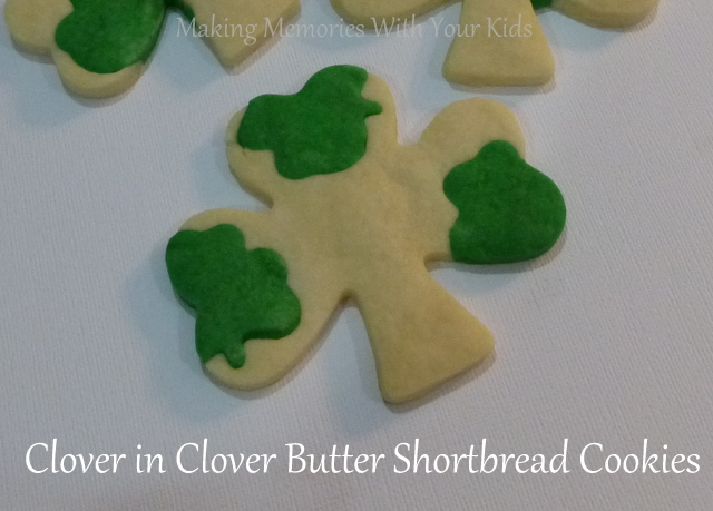Double Clover Butter Shortbread Cookies for St. Patrick's Day