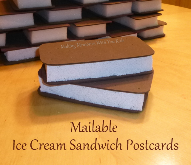 Mailable Ice Cream Sandwich Postcards