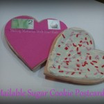 Mailable Sugar Cookie Postcards for Valentine's Day