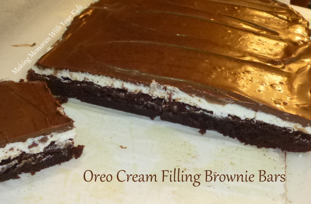 Oreo Cream Filling Brownies