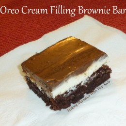 Oreo Cream Filling Brownie Bars