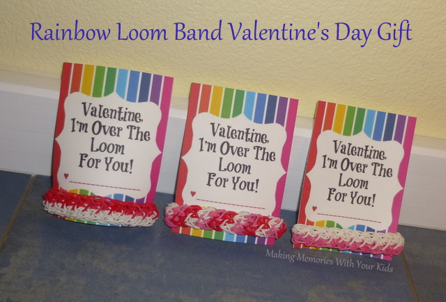 Rainbow Loom Band Valentine's Day