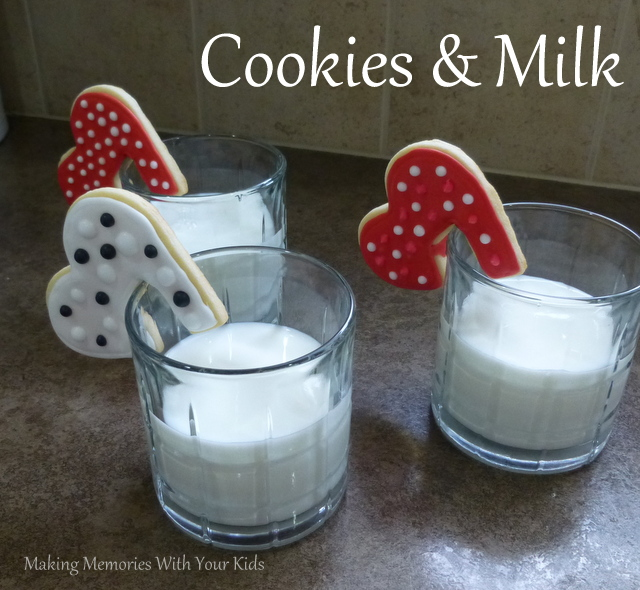 Sugar Cookie Hearts and Milk