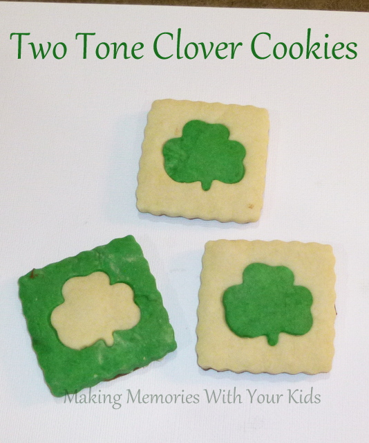 Two Tone Butter Shortbread Clover Cokies