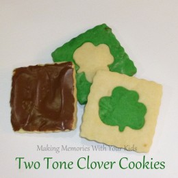 Two Tone Clover Shortbread Cookies