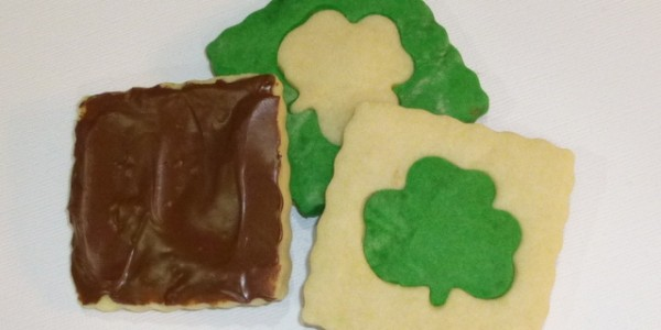 Butter Shortbread Cookies for St. Patrick's Day