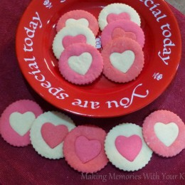 Two-Tone Heart Sugar Cookies