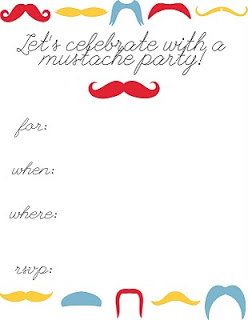 Mustache Birthday Party Invitations And The Party