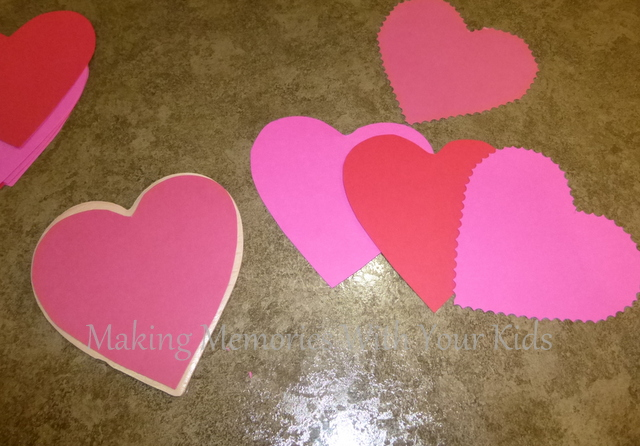 heart paper cut outs