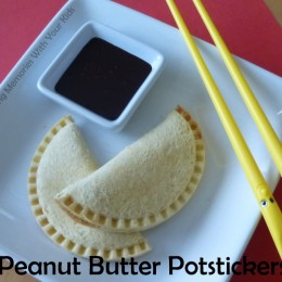 Peanut Butter Potstickers with Chocolate Dipping Sauce