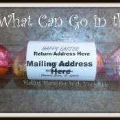 Mailable Easter Egg Tube