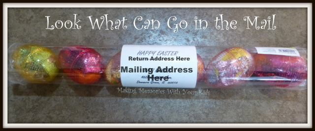 Fun easter gift in the mail making memories with your kids mailable easter egg tube negle Images