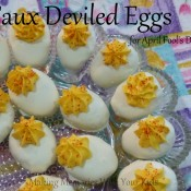 Faux Deviled Eggs for April Fools Day