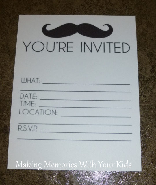 Mustache birthday party invitations printables and the party mustache birthday party invitation filmwisefo