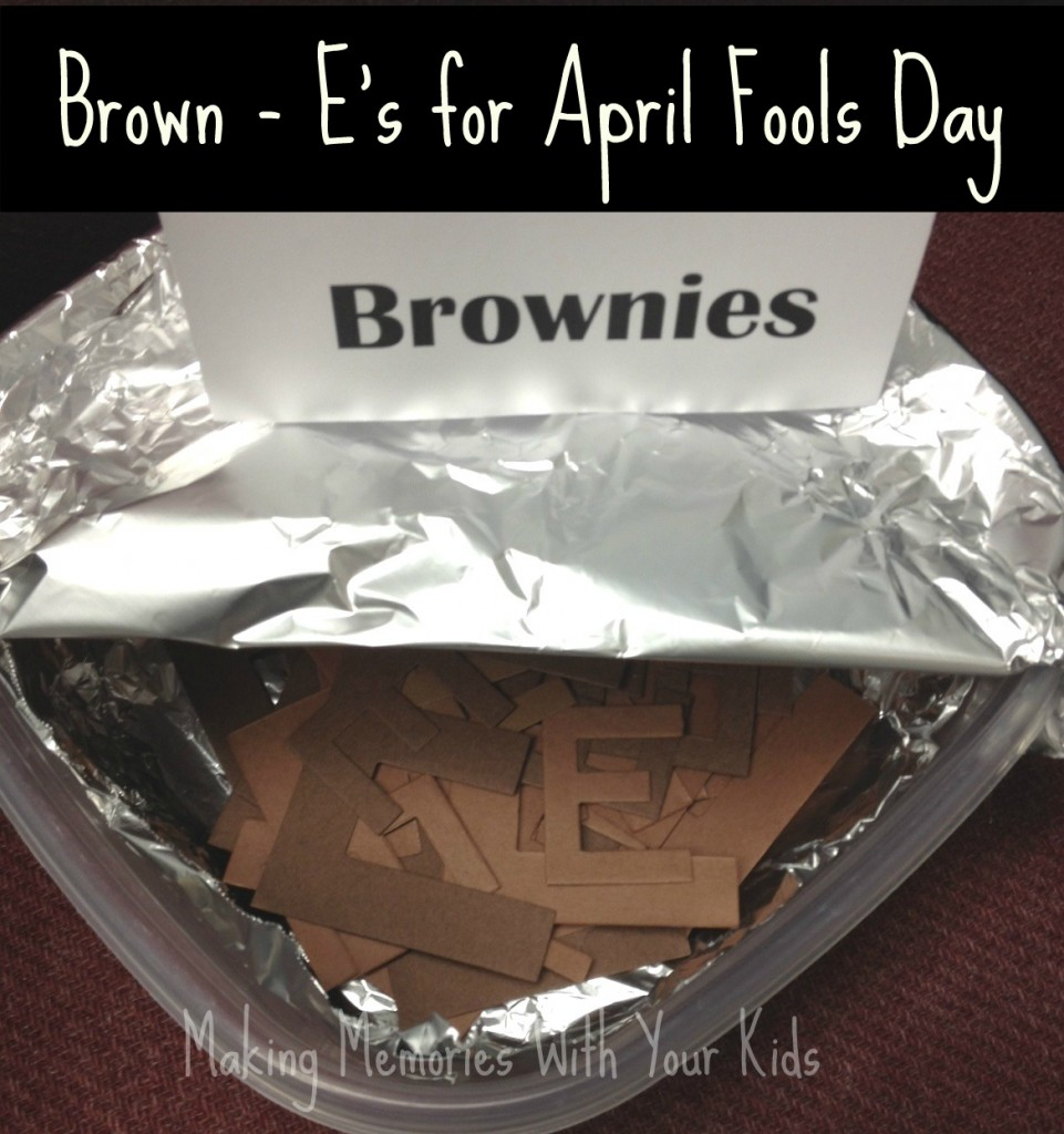Brownies for April Fools Day