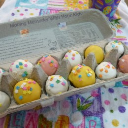 Easter Cake Balls for an Easter Gift
