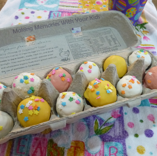 Easter cake balls for an easter gift making memories with your kids easter cake balls negle Choice Image