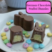 German Chocolate Stuffed Bunnies for Easter