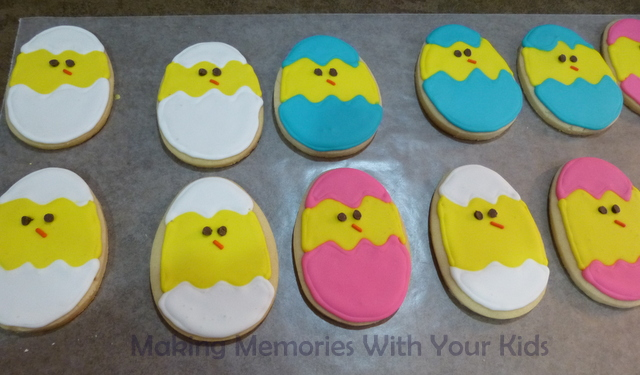 Chick Sugar Cookies for Easter