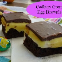{Copycat} Cadbury Creme Egg Brownies