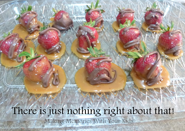 Salted Caramel Chocolate Strawberries - total fail