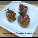 Salted Caramel Chocolate Strawberries