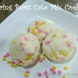 Spring Burst Cake Mix Cookies