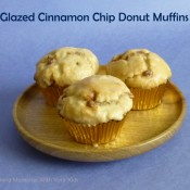 Glazed Cinnamon Chip Donut Muffins