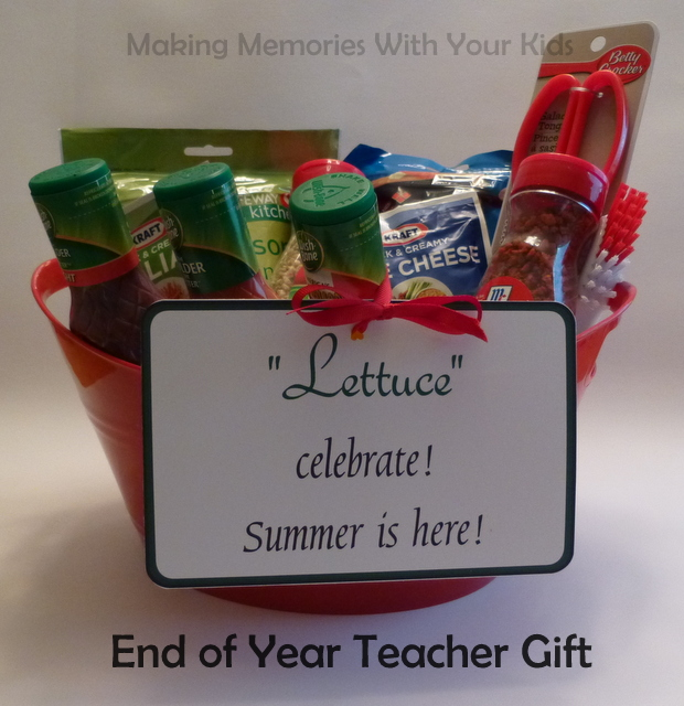 End of the Year Teacher Gift Idea - Lettuce Celebrate Summer is Here