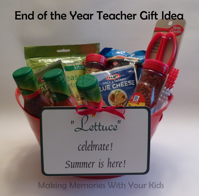 End of the Year Teacher Gift with Printable Label