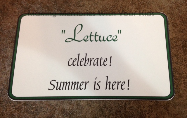 Lettuce Celebrate Summer is Here Gift Tag